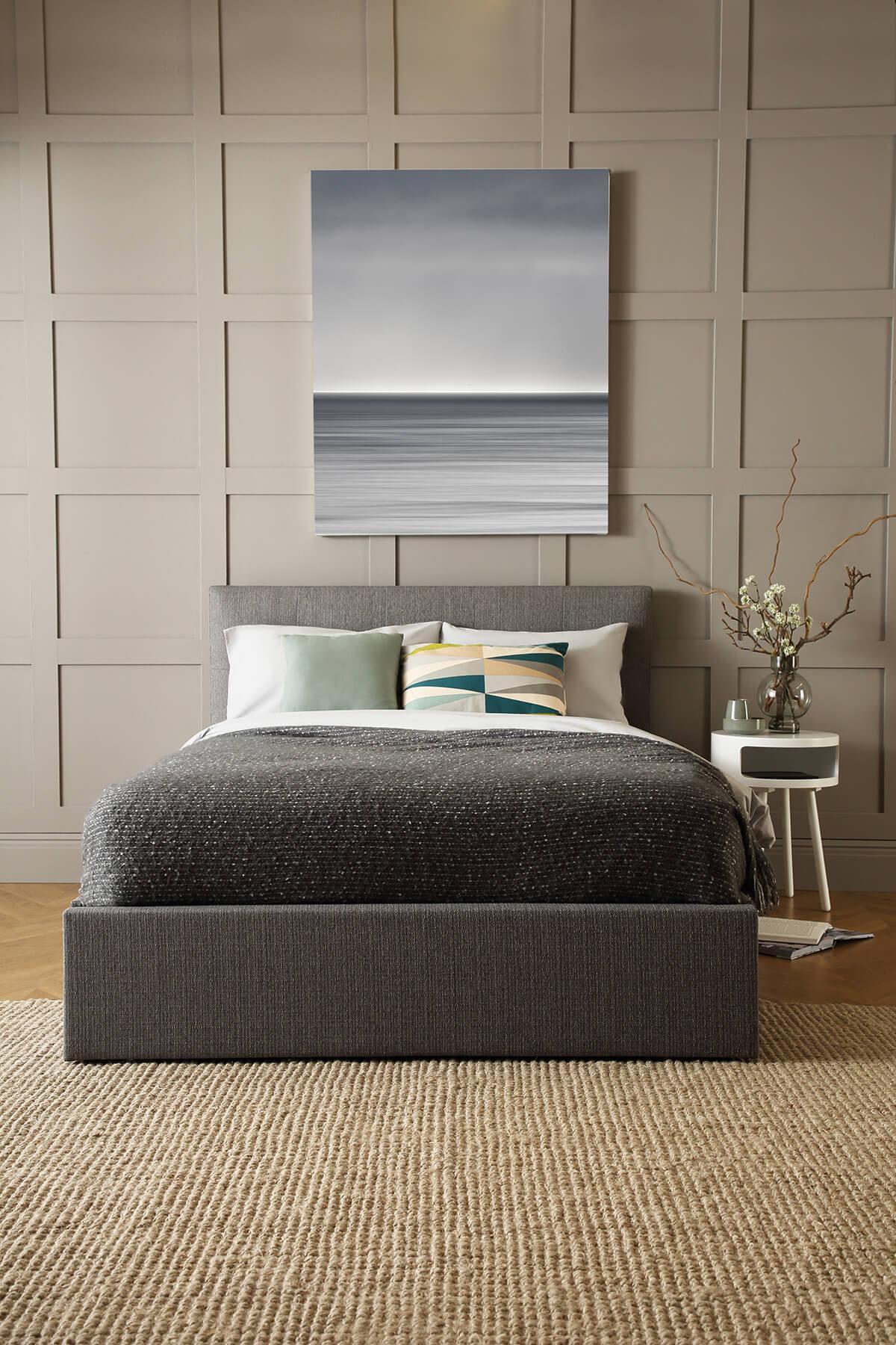 Hexham grey storage bed portrait