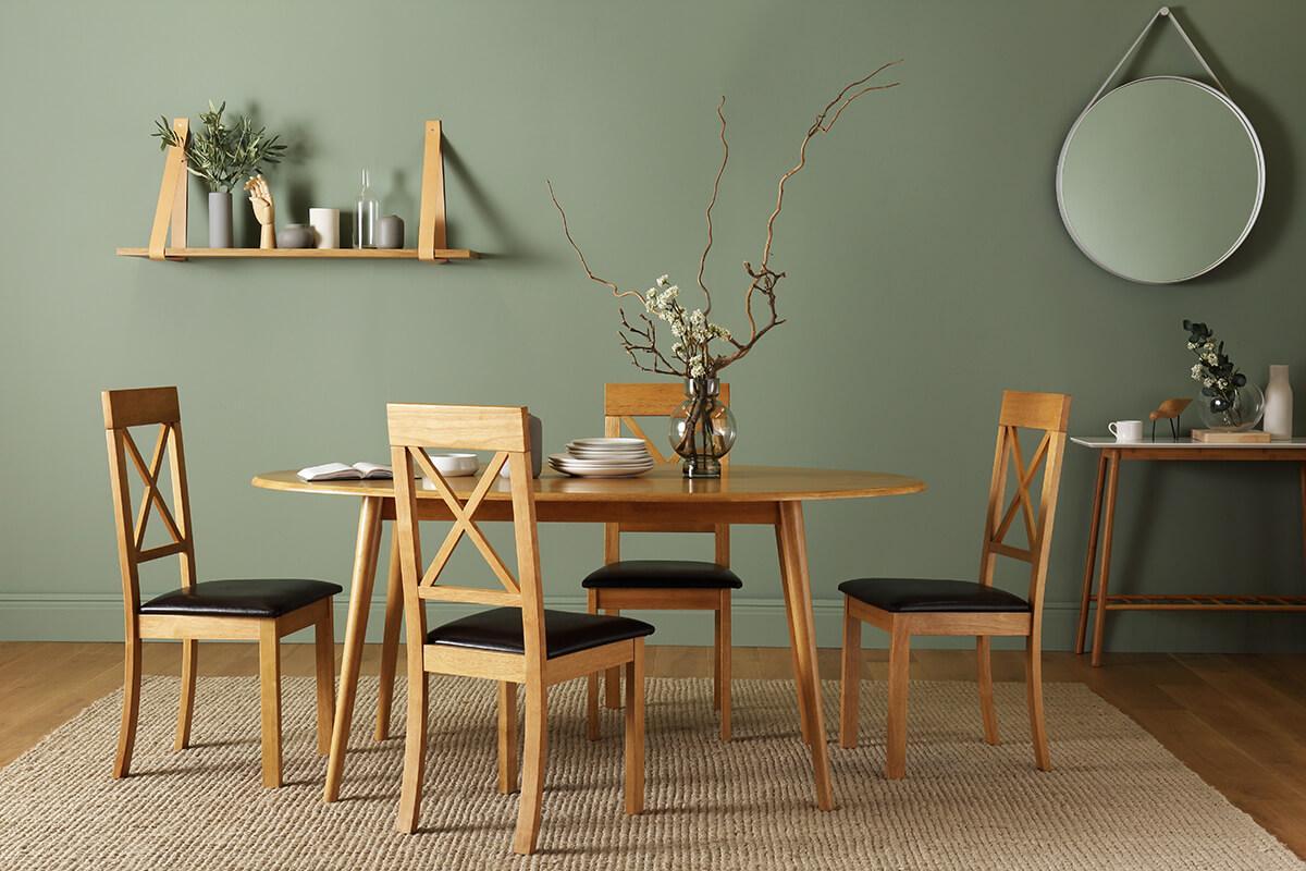 Suffolk oak table Kendal oak chairs main