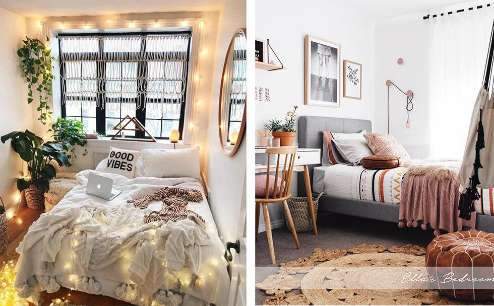 Cool ideas to make a teenage bedroom trendy for social media