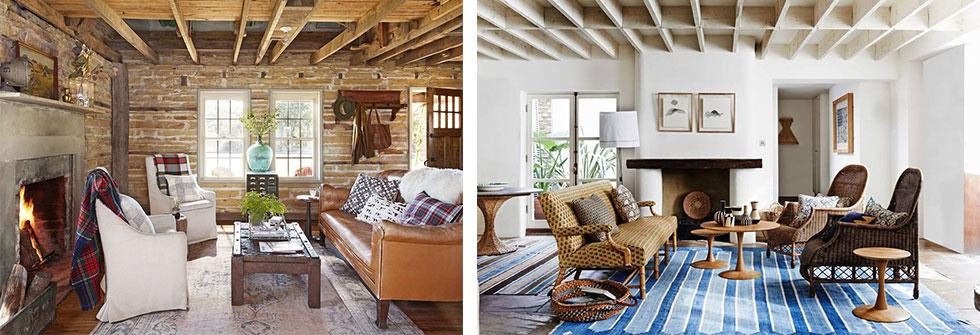 Country living room ideas with exposed ceiling beams