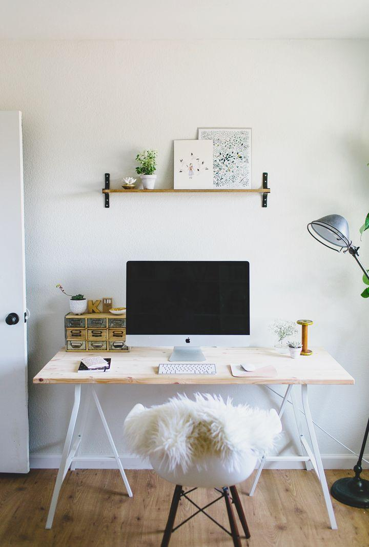 White and minimal workspace.