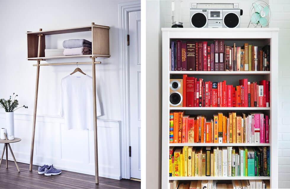Shelves with smart organising
