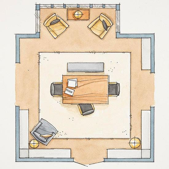 Dining room layout plan