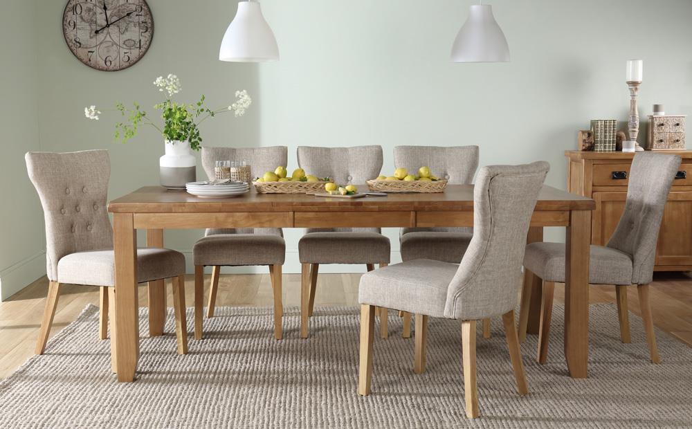 Highbury oak dining set.