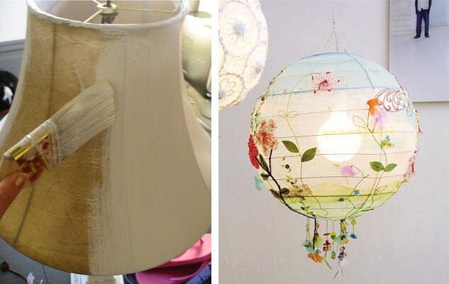 Decorating a lampshade
