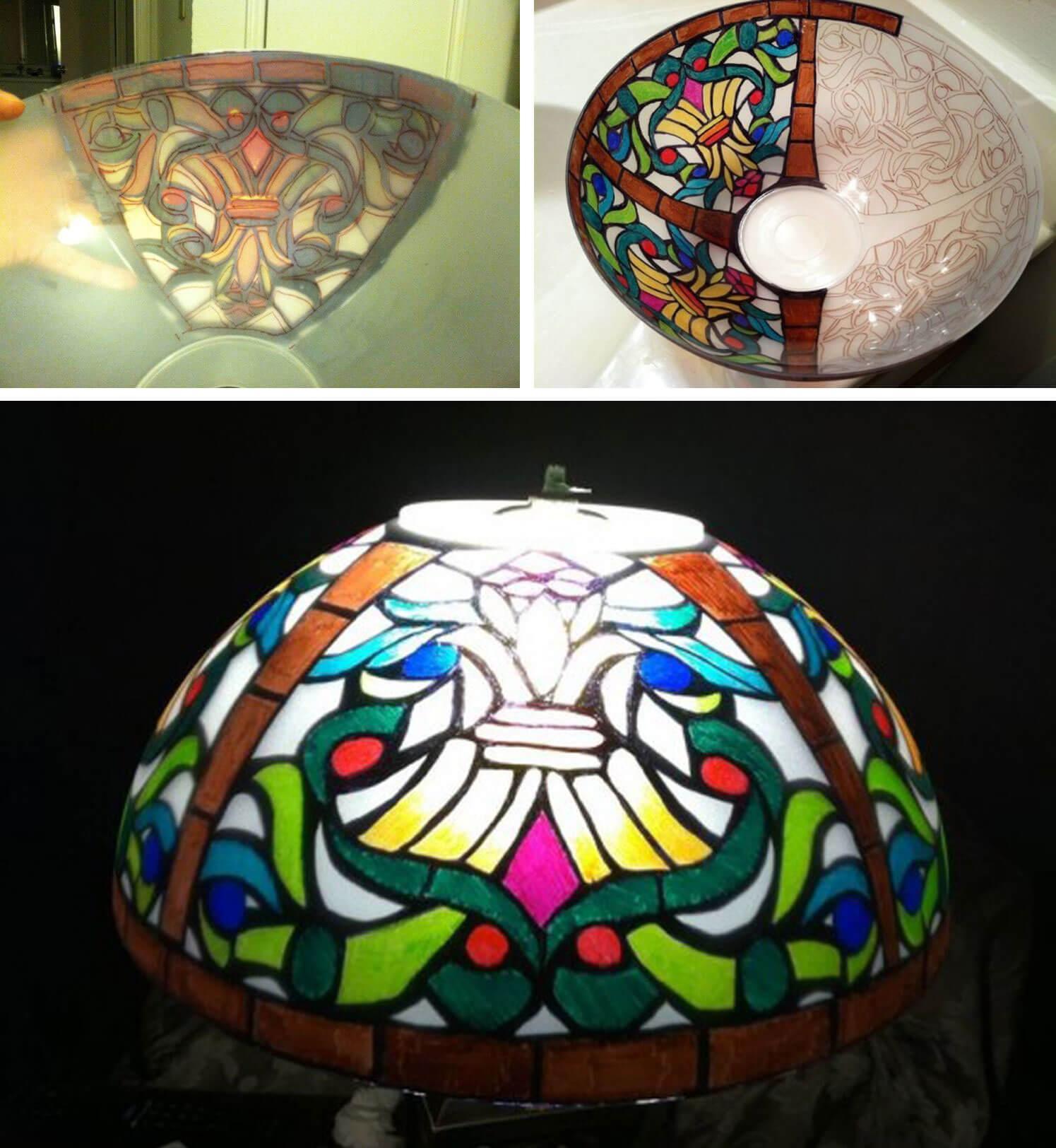 DIY Tiffany lamp