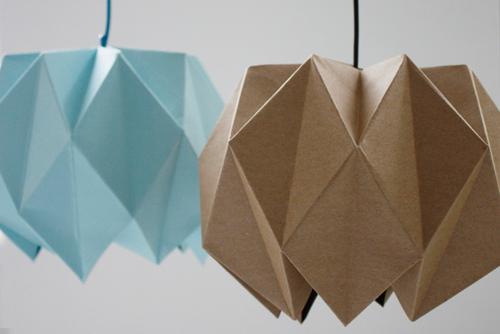 Folded lampshades