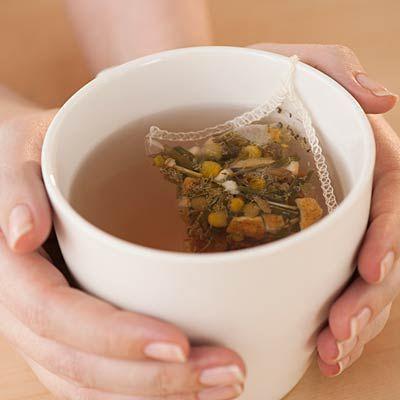 Warm mug of tea