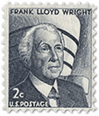 Frank Lloyd Wright in a stamp