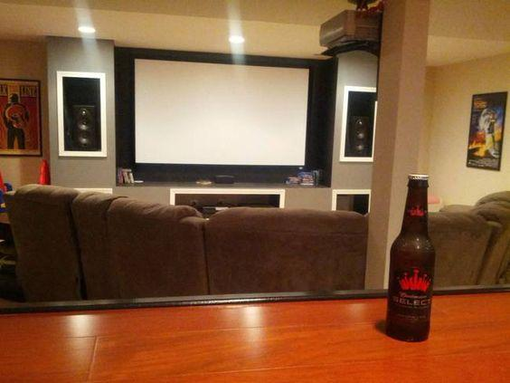 Home theatre setup with beer