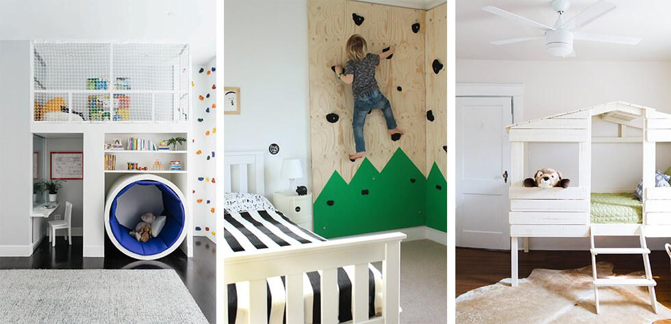 Boys bedrooms with built-in play areas