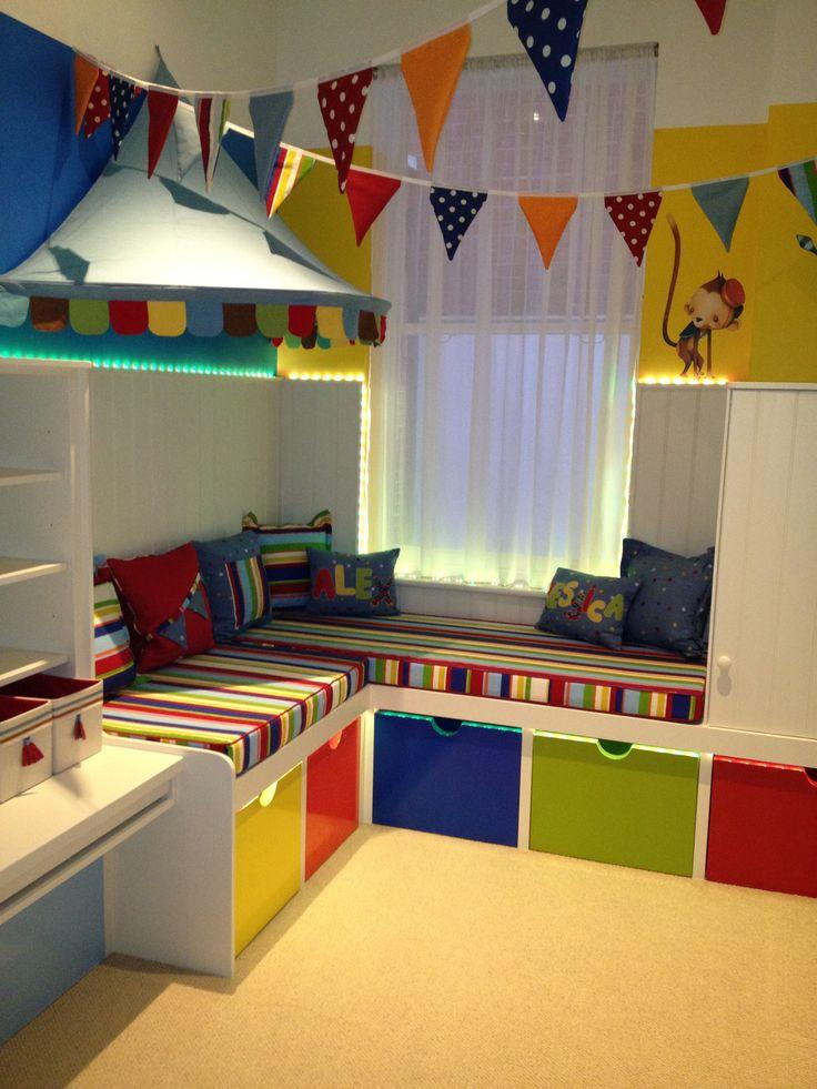 Colourful child's bedroom