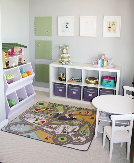 Tidy playroom.