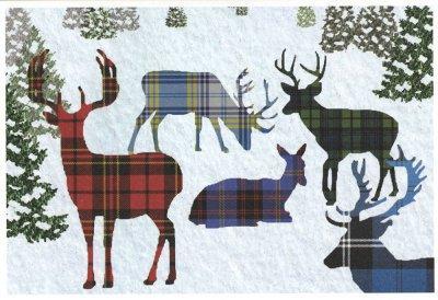 Plaid reindeer print