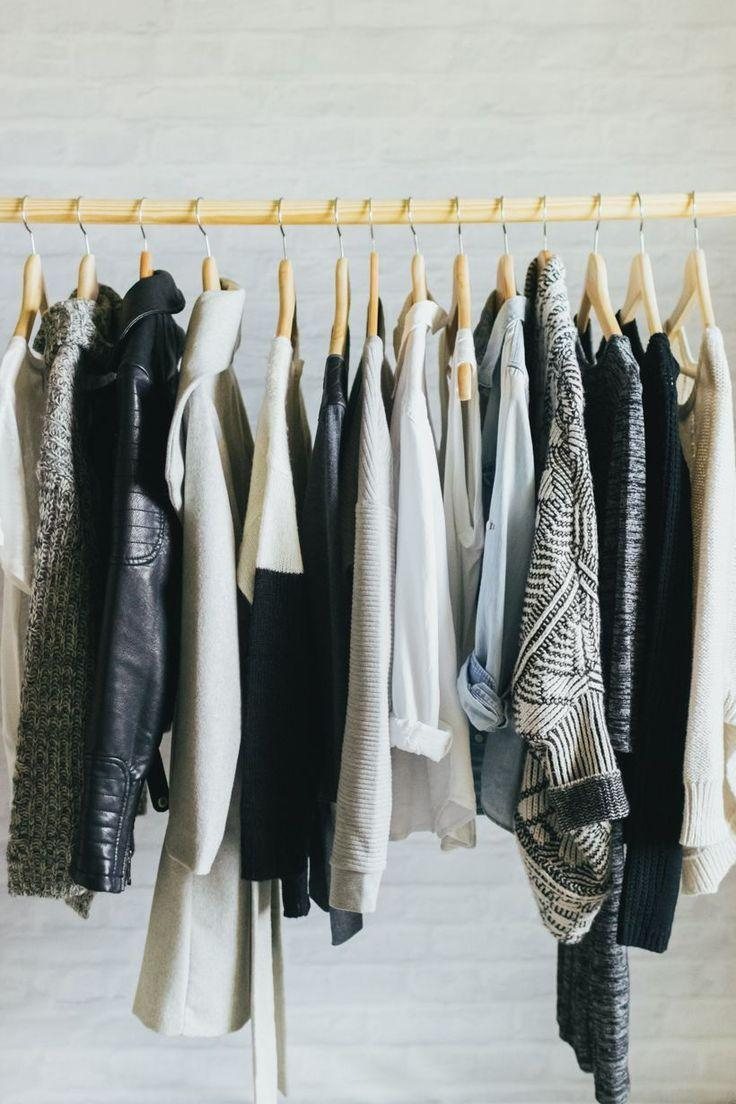 Rack of clothes.