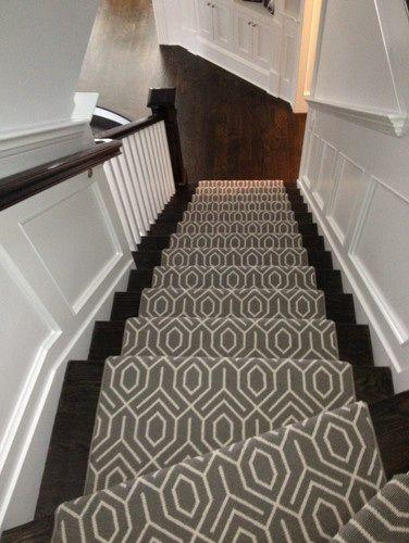Carpeted stairs.
