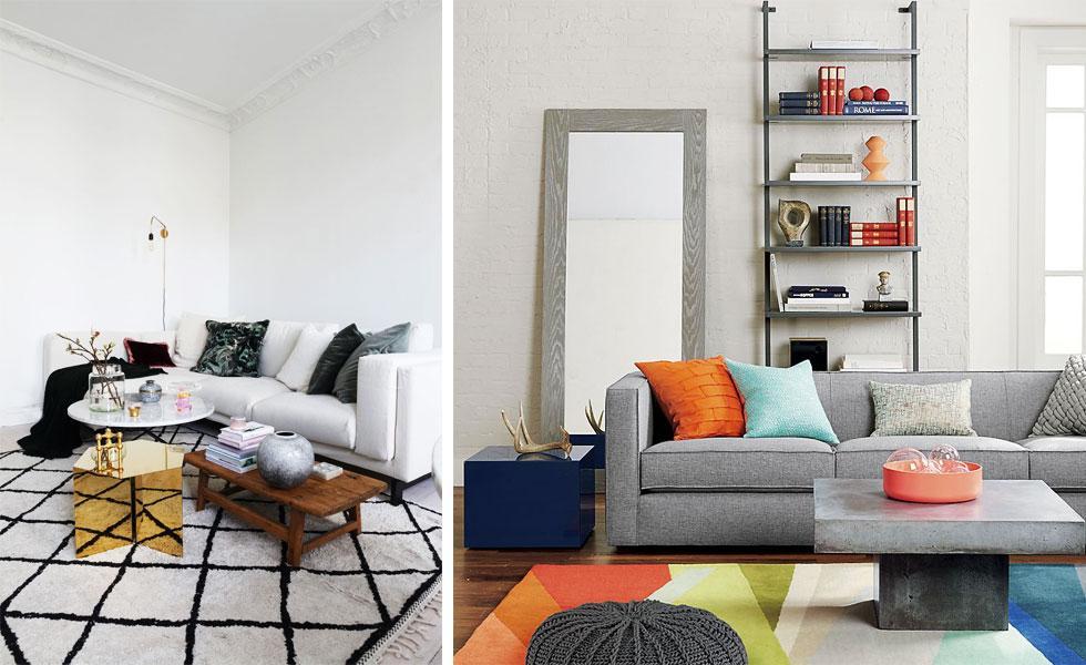 Assortment of sofas.