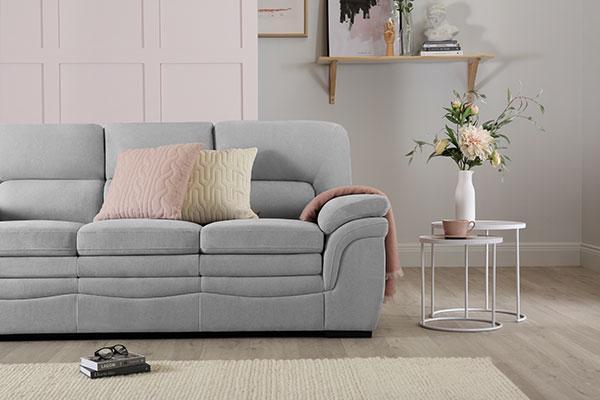 Sutton Dove Grey fabric sofa