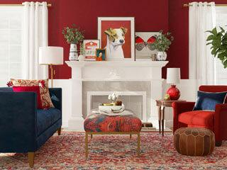Bold and Beautiful: 7 Red Hot Living Room Ideas