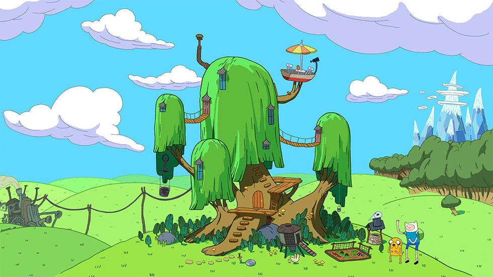 Finn and jake's treehouse in adventure time
