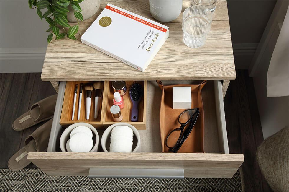Rauch Vereno Oak 3 Drawer Bedside Table