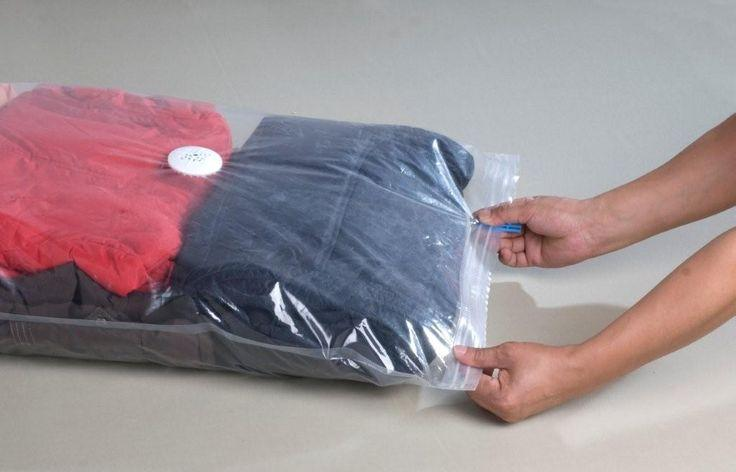 Vacuum packed clothes.