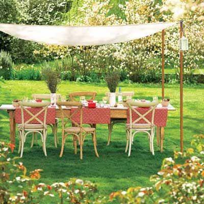 Dining area in the garden.