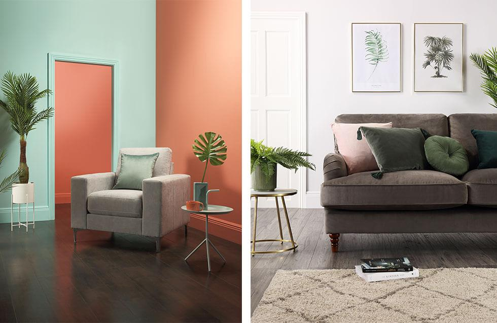 Minimalist living rooms with colourful accents.