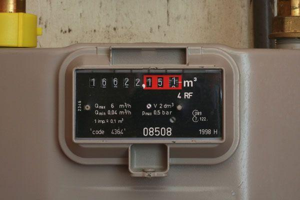 Meter indicating electricity consumption.