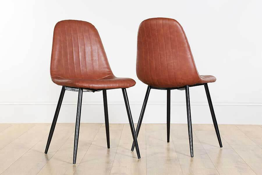 Leather Dining Chairs - Black, Brown & Coloured Leather ...