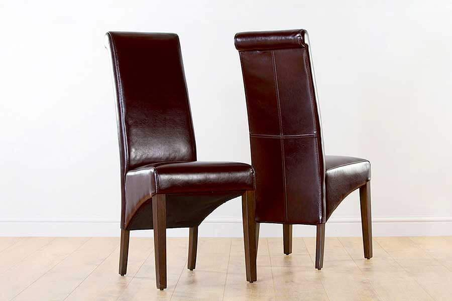 Brown Leather Dining Chairs   Furniture Choice