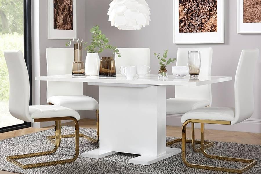 White And Gold Dining Chairs: Furniture Choice