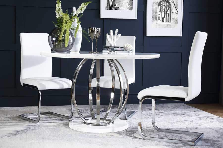 High Gloss Dining Table Chairs High Gloss Dining Sets