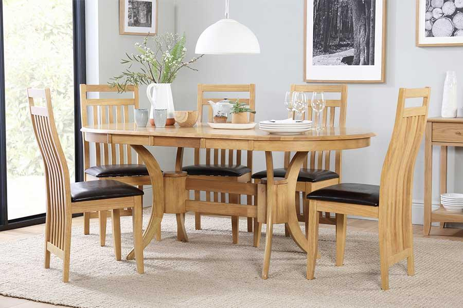 Oval Table & Chairs - Oval Dining Sets | Furniture Choice