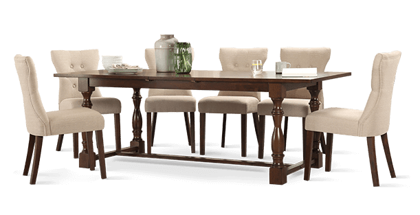 Devonshire Table & Bewley Chairs Dining Set