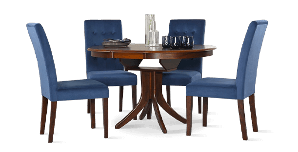 Hudson Table & Regent Chairs Dining Set