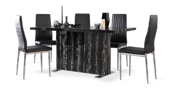 Magnus Table & Leon Chairs Dining Set