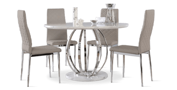 Savoy Table & Renzo Chairs Dining Set