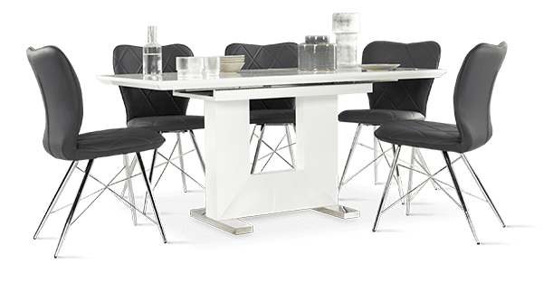 Florence Table & Lucca Chairs Dining Set