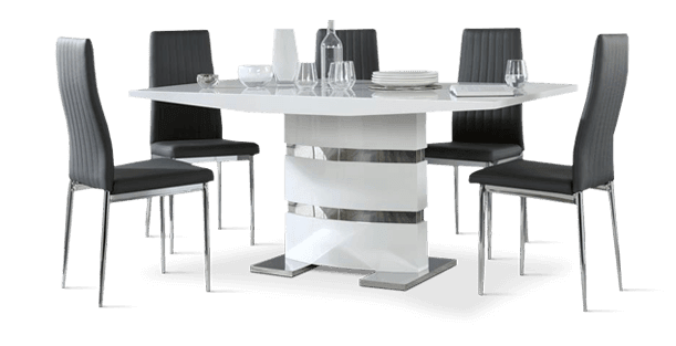 Komoro Table & Leon Chairs Dining Set