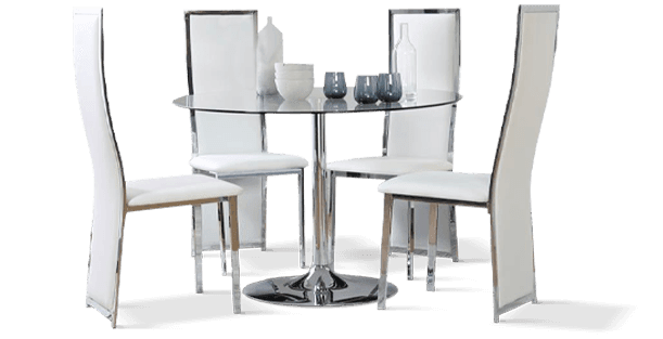 Orbit Table & Celeste Chairs Dining Set