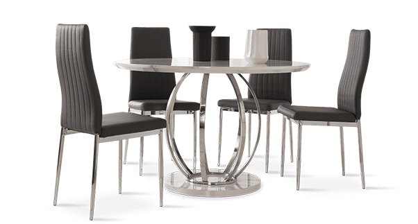 Savoy Table & Leon Chairs Dining Set
