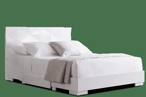 Rimini White High Gloss Bed
