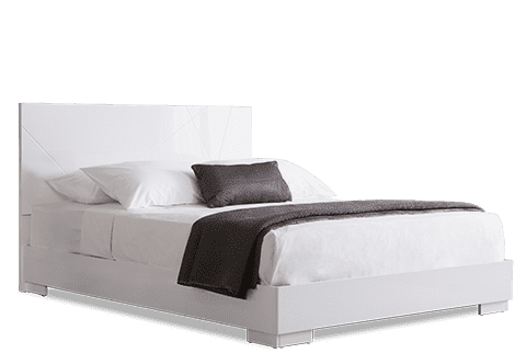 Turin White High Gloss Bed
