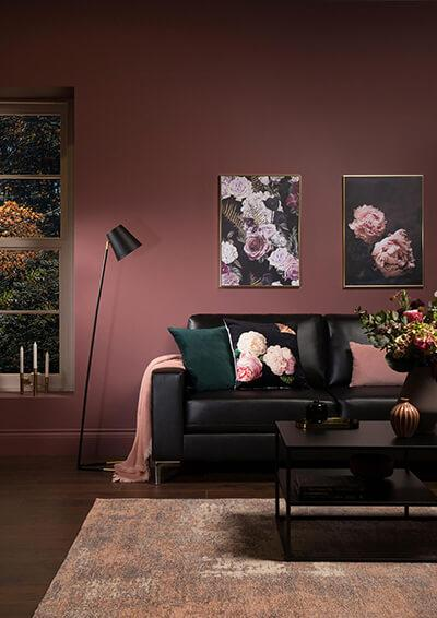 Baltimore Black Leather Sofa - 2 Seater