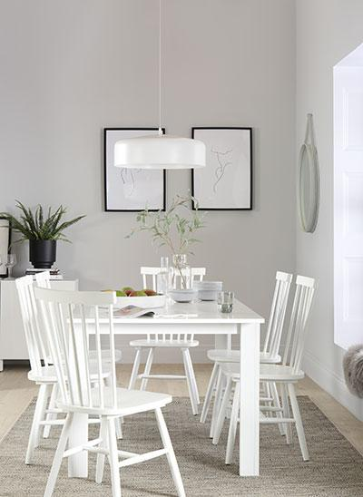 Aspen White Extending Dining Table - with 4 Pendle Chairs