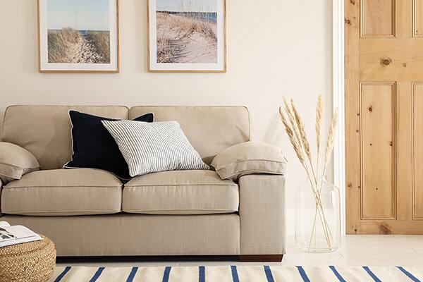 Cassie Linen Fabric Sofa - 2 Seater