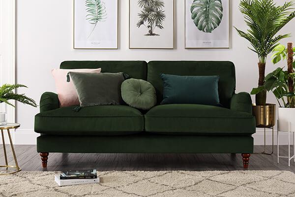 Charleston Mink Velvet Sofa 2 Seater