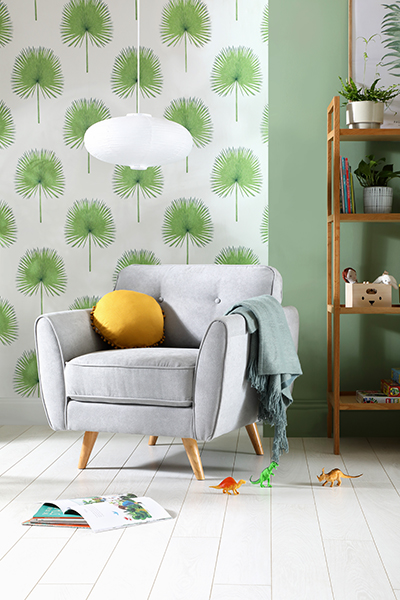 Harlow Dove Grey Plush Fabric Armchair