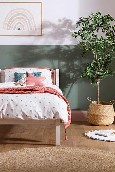 Rio White Wooden Bed - Single